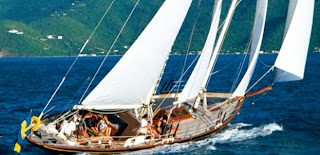 Charter LELANTA for the Antigua Classic Yacht Regatta. Book with ParadiseConnections.com