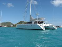 Gunboat Catamaran Safari in Simpson Bay St Maarten (Photo ©2009 - Paradise Connections)