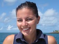 Sarah, Stewardess aboard catamaran TRUE NORTH