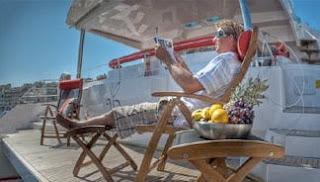 Catamaran Bella Principessa - aft deck/swim platform