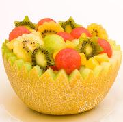 Lo que lleva esta ensalada de frutas es un almíbar de hierbabuena y limón. macedonia