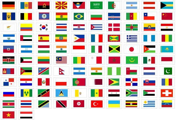 siguiente enlace, podemos descargar gratis todas las banderas del mundo