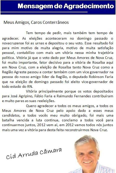 BLOG: ZÉ LIMA DO AGRESTE POTIGUAR!!!: Outubro 2010