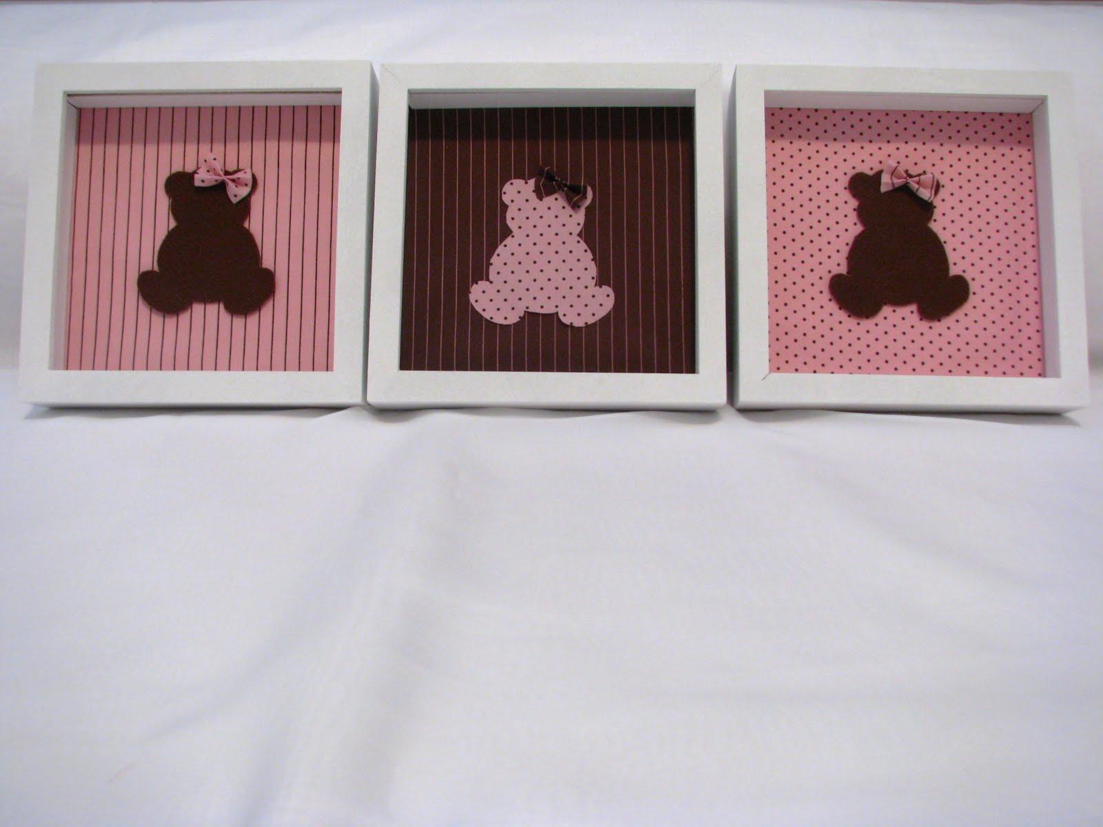 Decoração Infantil e Lembrancinhas Quarto de Bebê  ~ Quarto Rosa Com Marrom