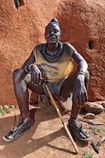Dorfbewohner in Namibia