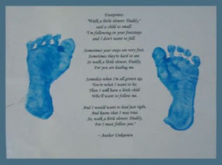 footprint with poem craft gift for dad on father's day, birthday, or christmas