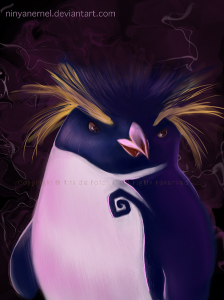 render art day 6 penguin