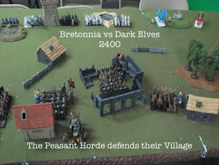 Dark Elves vs Bretonnia battle report