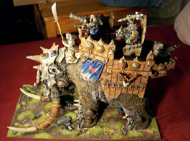 custom War Mammoth fantasy model picture