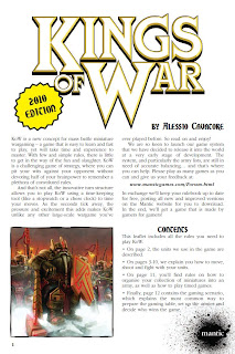 Kings of War rules by Mantic Games