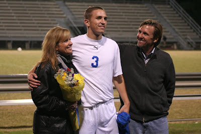 Captain Gabe Chrismon with parents Beverly and Craig Chrismon