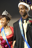 Homecoming Queen Tamirrah Davis and King Demetrius Upchurch