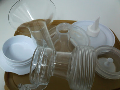 cleaning breast pump at work