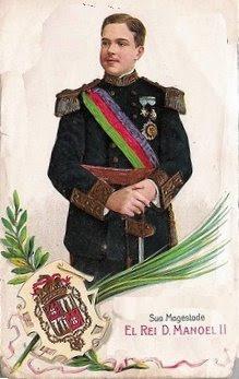 D. Manuel II, ultimo rei de Portugal expulso pelos ateistas maçonicos laicista - danger atheism