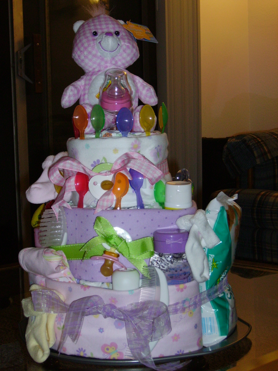 how to make a large diaper cake