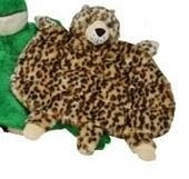 Picture of the leopard mini squeak blanket dog toy; it has SIXTEEN squeakers in it!