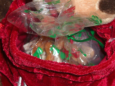 Close up picture of the puppy's treat bag