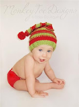Funky Stripes Christmas Hat
