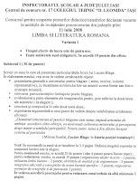 Subiecte limba romana - titularizare 2008 Iasi page 1