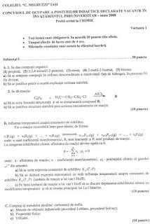 Subiecte titularizare chimie iunie 2008 page 1