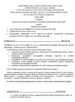 Subiecte invatatori titularizare 2009 - Mures p1