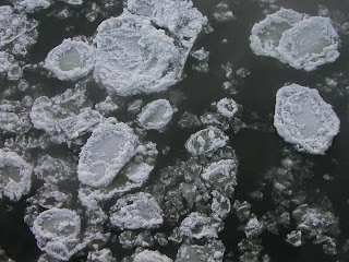 ice floe in the Missouri River