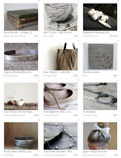 Silver and Shabby Etsy treasury
