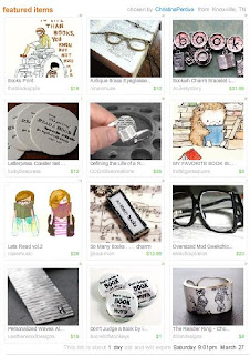 Etsy treasury - 'Reading is good for you'