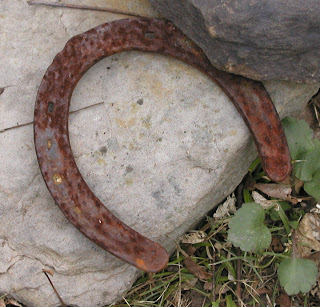 rusty old lucky horseshoe
