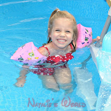 Natalie is enjoyed swimming this summer.