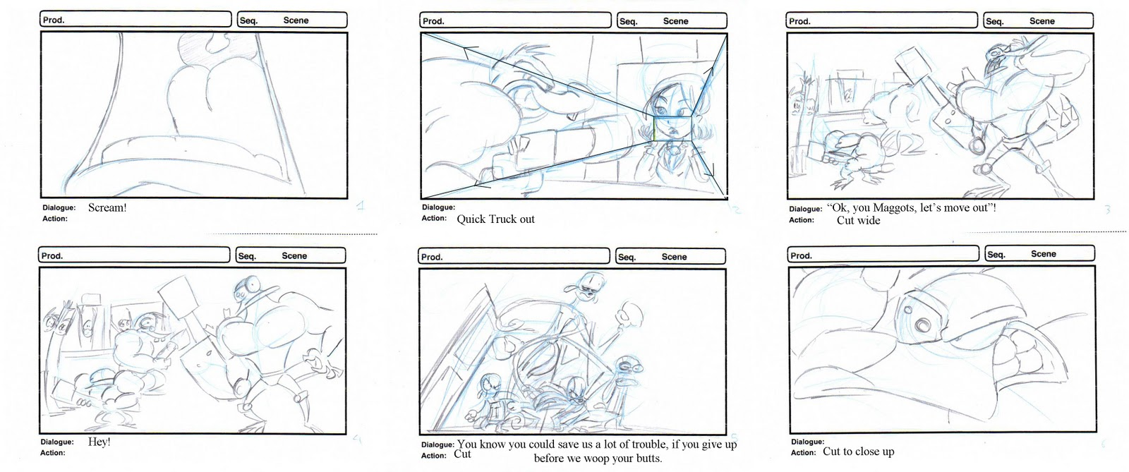 Animated Heads: Storyboards