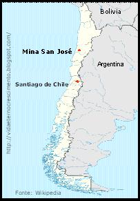 San Jose Mine Chile Map