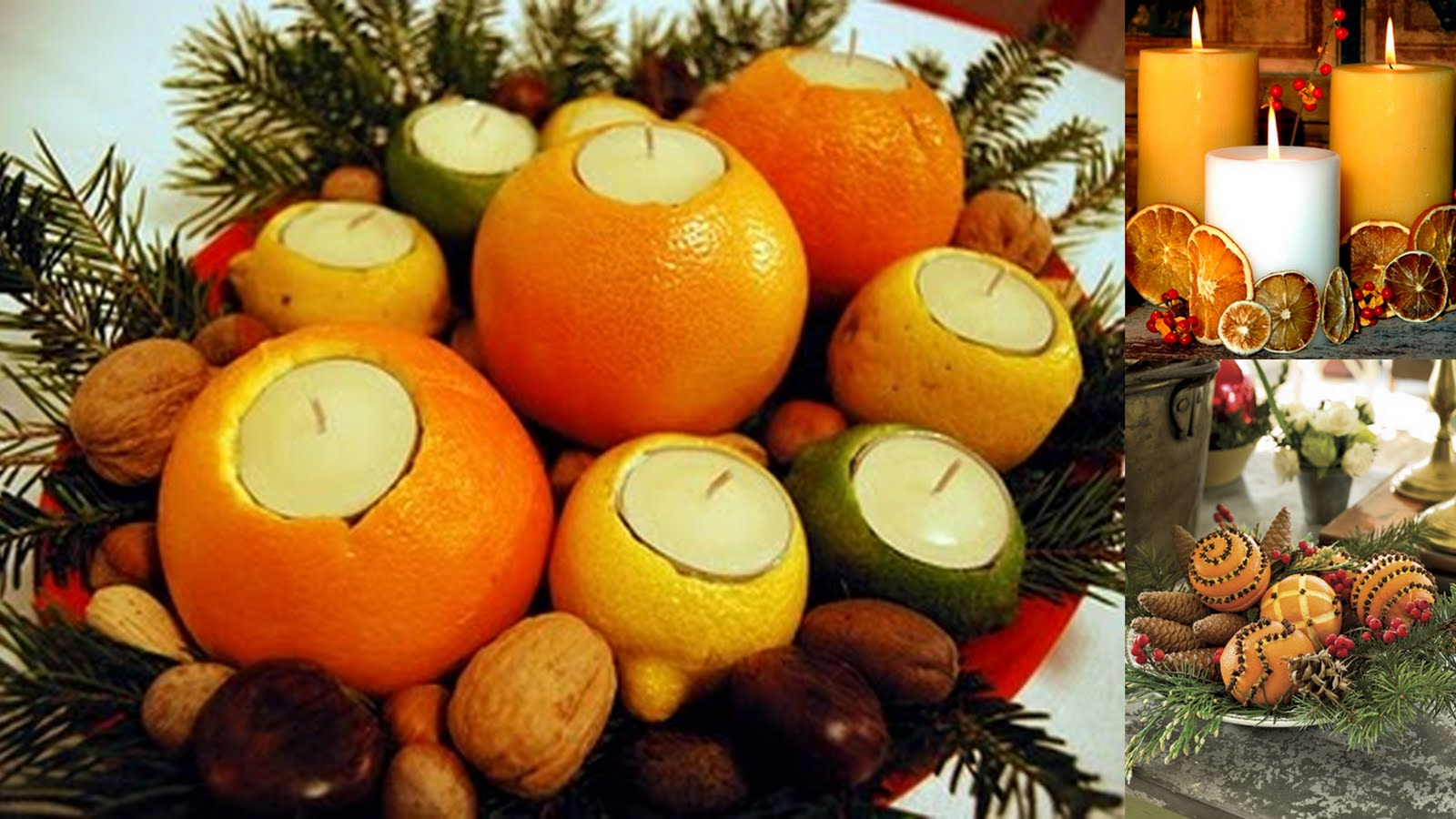 House on ashwell lane use fruit to decorate for Baking oranges for christmas decoration