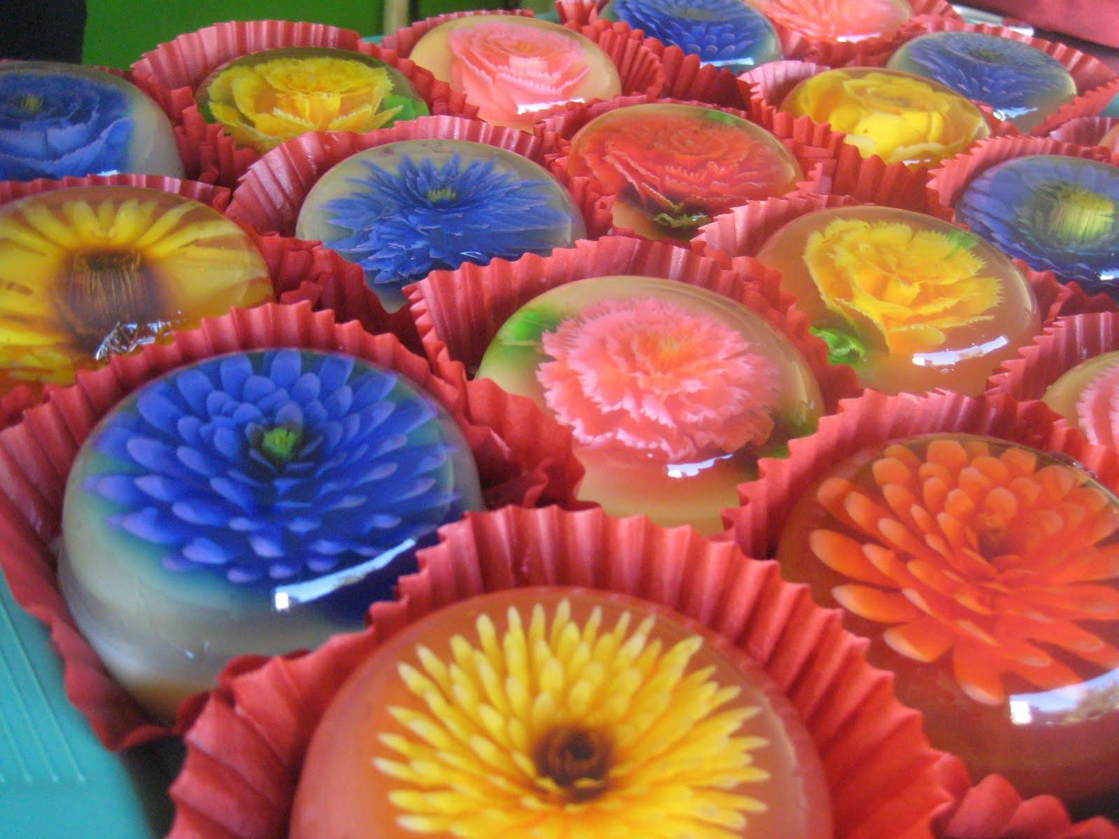 Как сделать цветы в желе видео фото 482