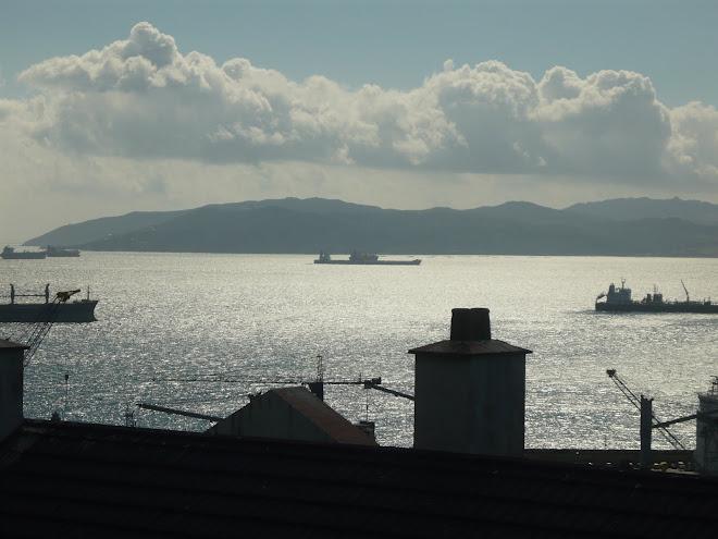 hacia el Peñon de Gibraltar......