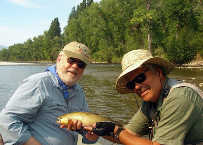Geoff Thomas and Jack Mauer on the Bitterroot River in Montana