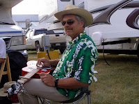 Jack Mauer and his dobro at the 2007 Bitterroot Bluegrass Festival in Hamilton, MT
