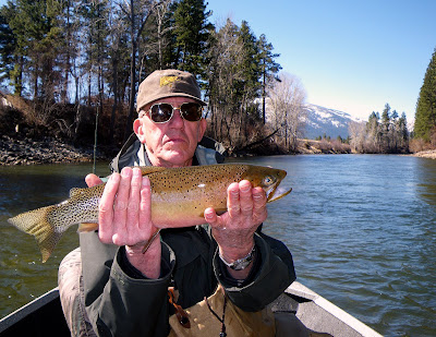 John Hickman with a nice trout on the Bitterroot River