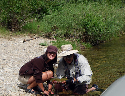 Rachel and Jack with her Bitterroot Brown Trout