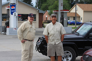John Corrigan, left, Jack Mauer of Wapiti Waters, right. Victor, MT