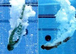 Perder o medo de dar saltos na piscina