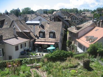 Garden allotments in Aubonne.