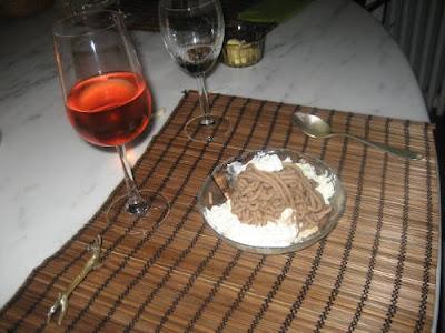 Marron vermicelli dessert.