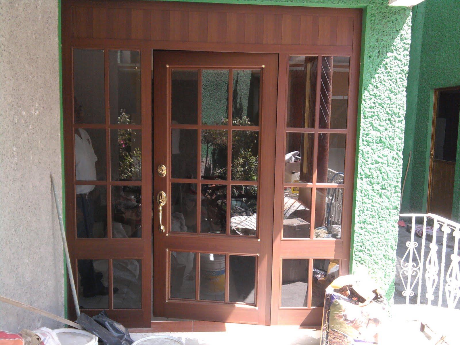 Botiquin para ba o moderno - Puertas de aluminio color madera ...