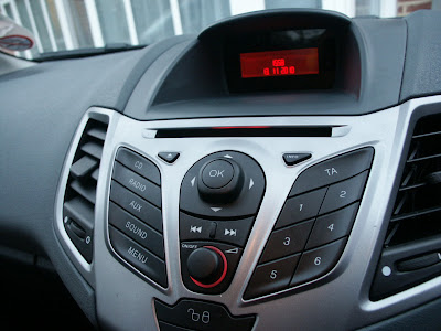 Ford Fiesta Ok button