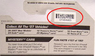 Hot Wheels Mystery Cars  Codes