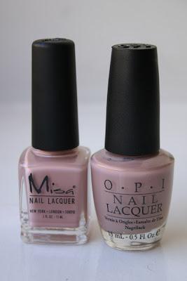 Nail polish, Misa High Waist Hue, Opi Tickle My France-y