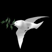 """""""Essa pombinha da paz viaja de site em site"""""""