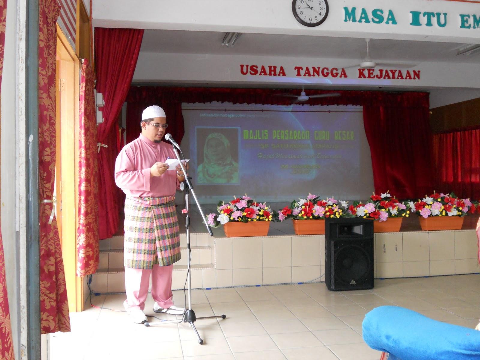 Bacaan doa yang telah diketui oleh Us. Mohd. Hafidzuddin bin Mohd
