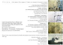 """Atelier Expérimental """"Installation/Evénement/Performance"""" aux Journées Expérimentales"""